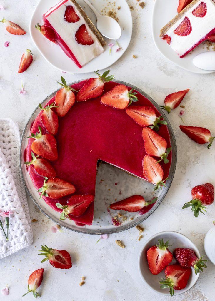 Erdbeer Joghurt Törtchen ohne backen Rezept mit griechischem Joghurt Emma´s Lieblingsstücke