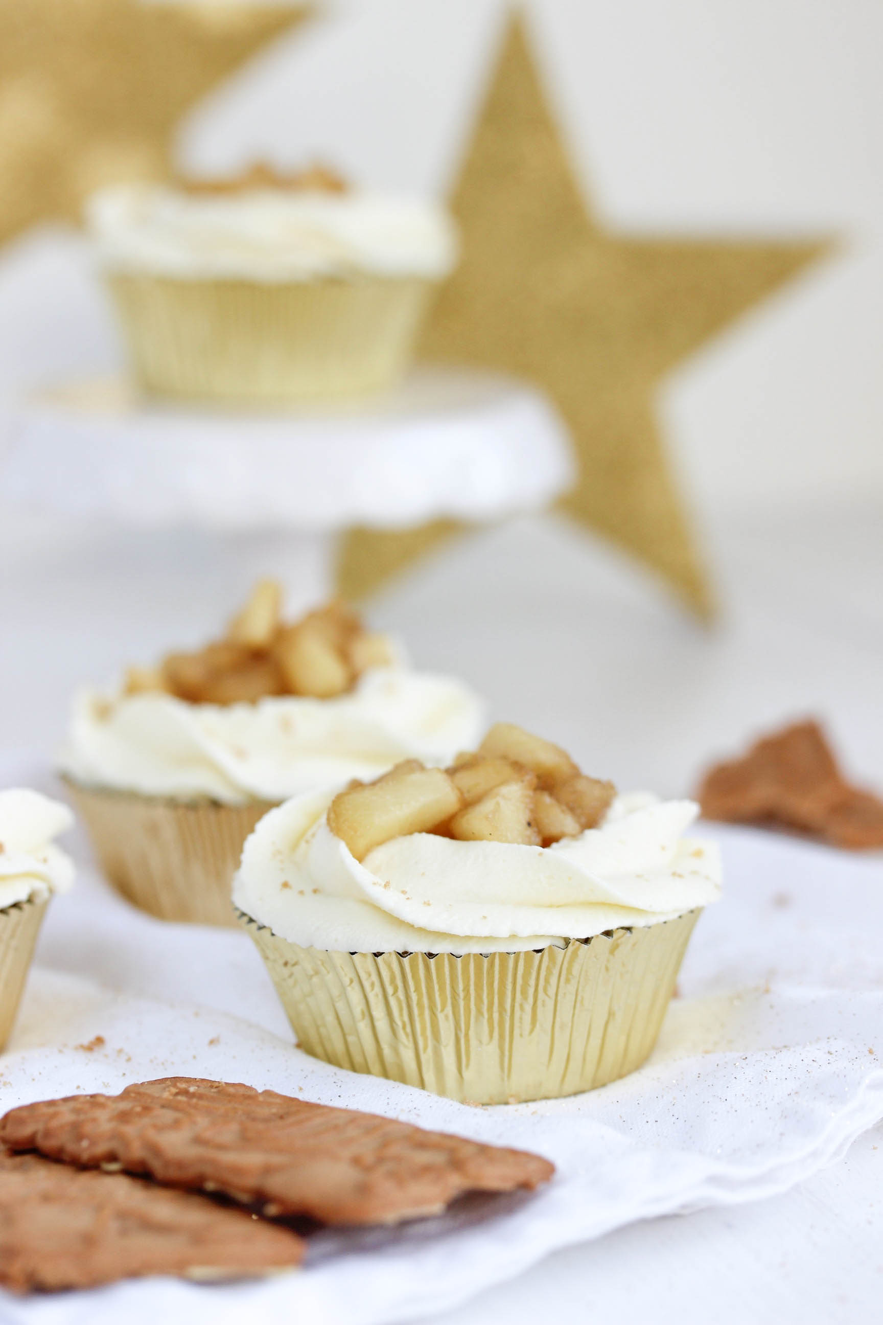 Leckere Apfel Spekulatius Cupcakes Weihnachten Advent backen Rezept