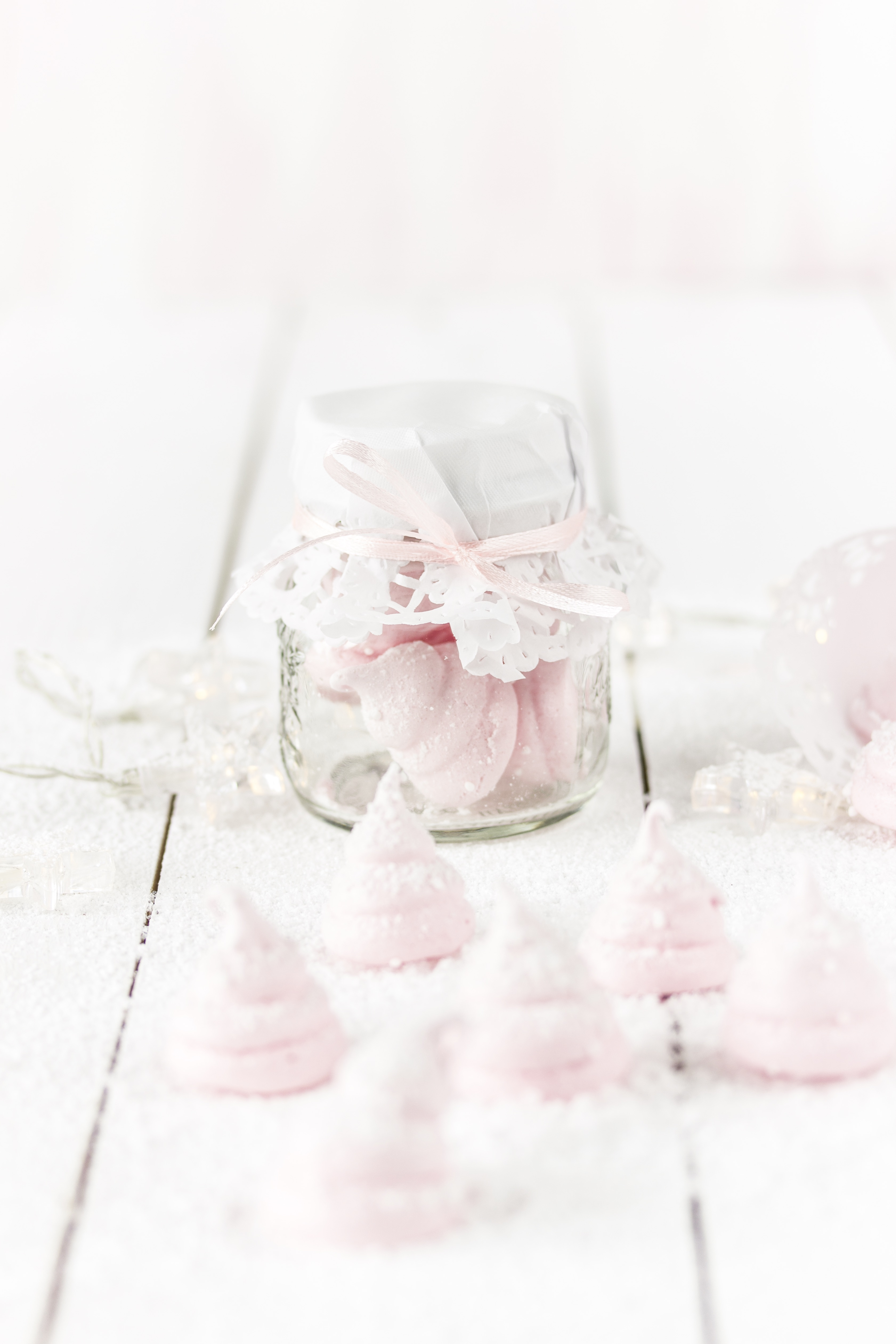 Meringue-Bäumchen im Glas