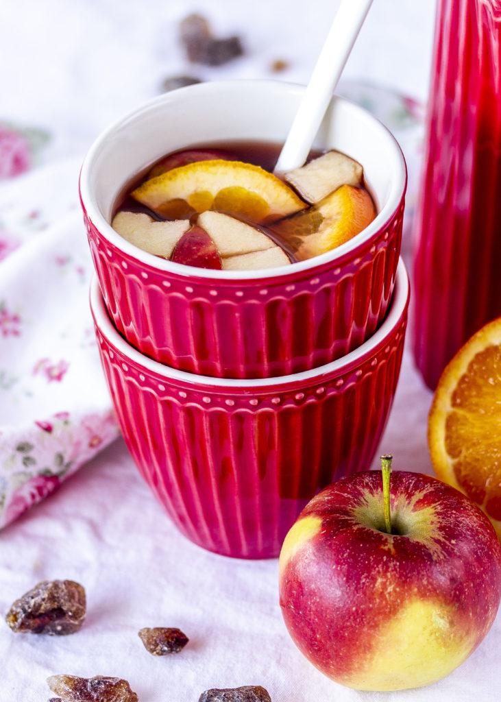 Apfel Cranberry Punsch Rezept Cranberry Kandis Crunch Nüsse Cheeseake #cheesecake #cake #kuchen #käsekuchen #backen | Emma´s Lieblingsstücke