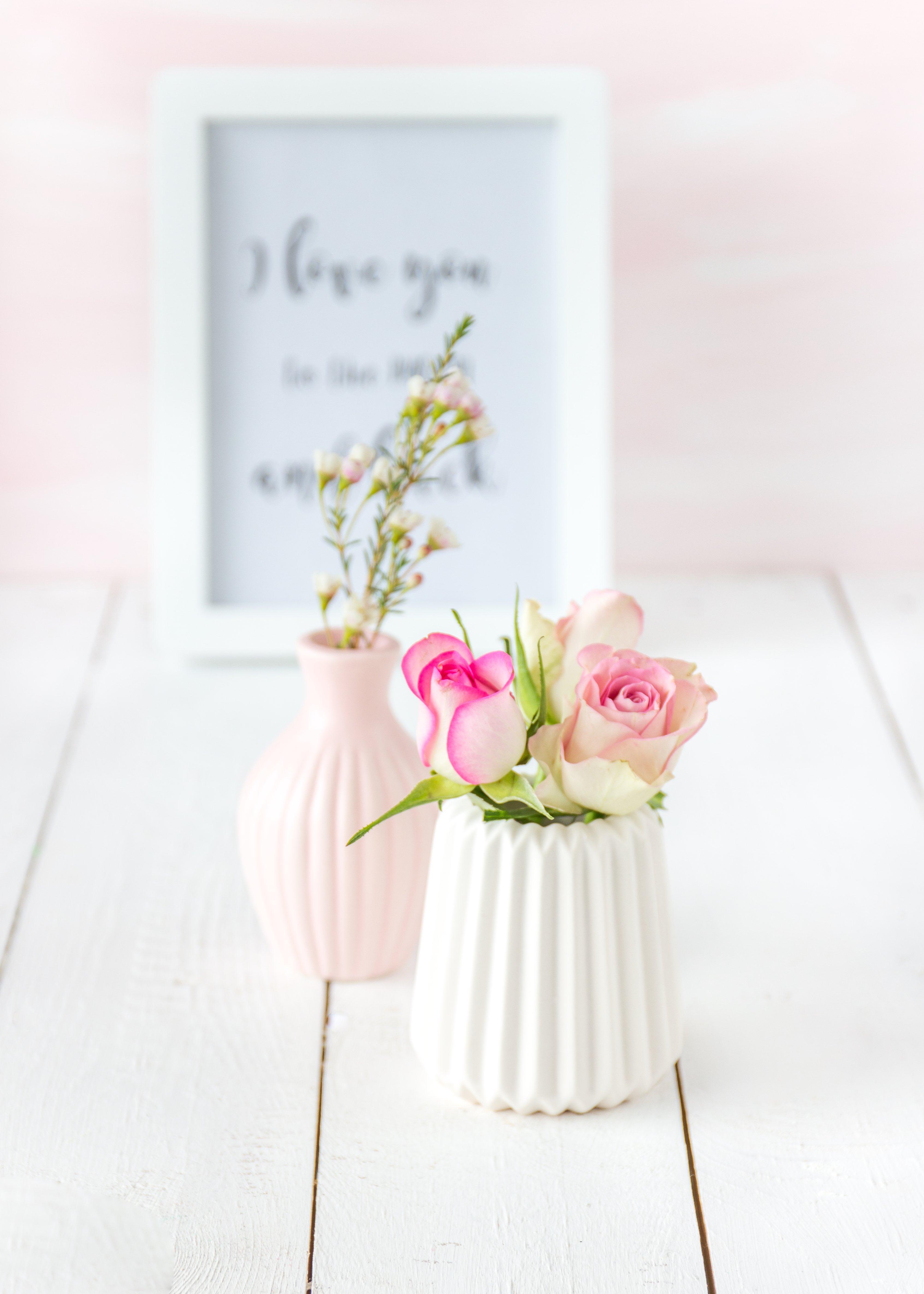 Rosen in weißer Vase | Emma´s Lieblingsstücke