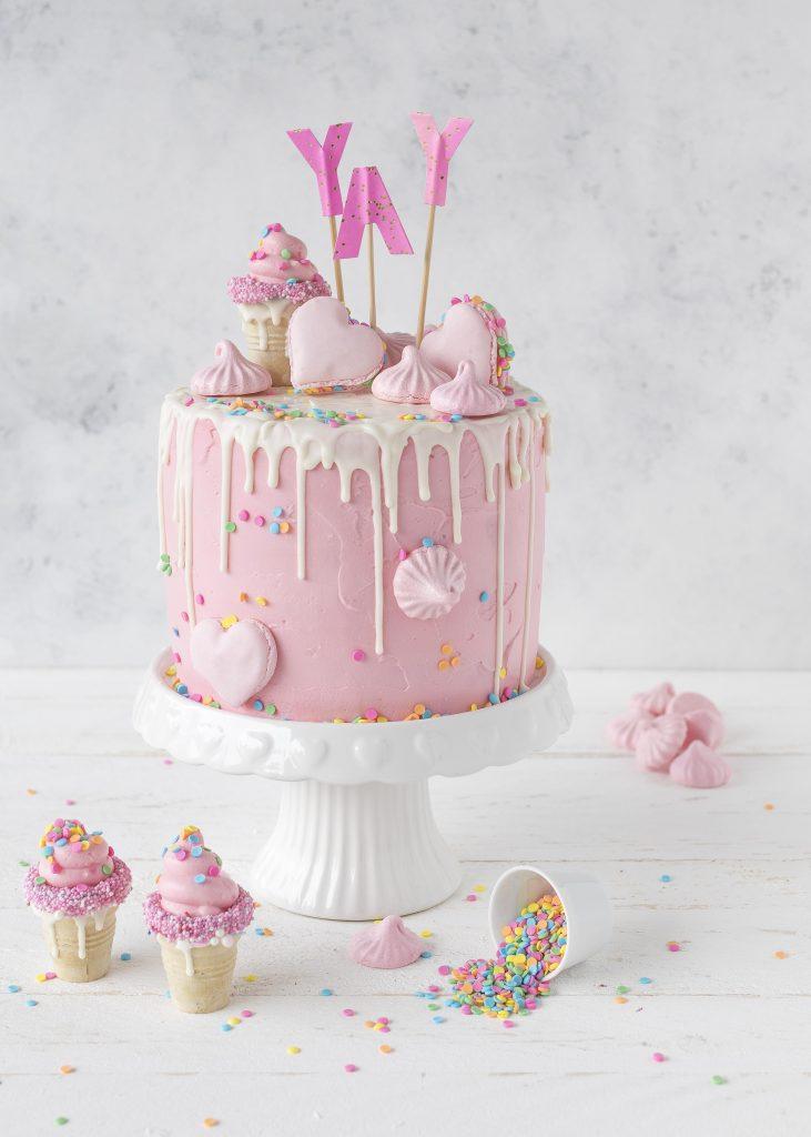 Candy Drip Cake Rezept backen Torte Mädchen Geburtstagstorte #dripcake #birthdaycake ##cake #torte | Emma´s Lieblingsstücke