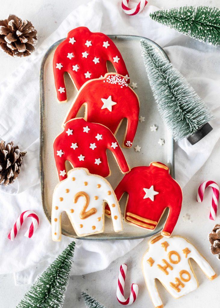 Ugly Christmas Sweater Kekse Rezept Backen Weihnachten Plätzchen Royal Icing