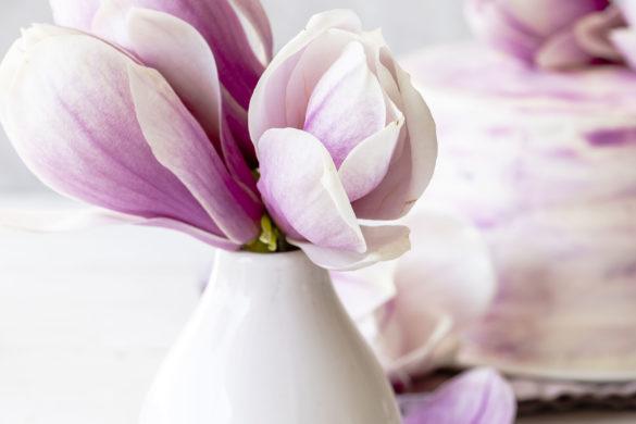 Rezept: Magnolien Torte mit Himbeer Joghurt und Quark backen Frühling lecker einfach fruchtig #torte #magnolien #himbeeren #cake #backen #rezept | Emma´s Lieblingsstücke