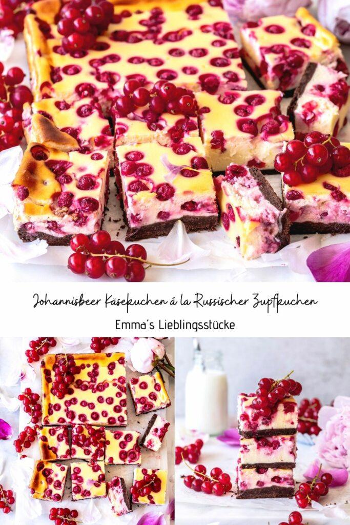 Einfaches Rezept: Johannisbeer Käsekuchen á la Russischer Zupfkuchen backen Schokoladenboden Schokolade Quarkkuchen Cheesecake #russischerzupfkuchen #käsekuchen #backen #cheesecake #foodblog #foodphotography | Emma´s Lieblingsstücke