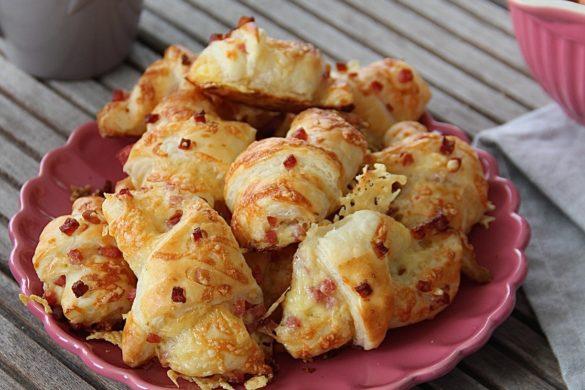 Super schnelle Käse Schinken Croissants mit Blätterteig selber machen Emmas Lieblingsstücke