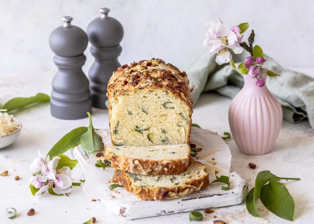 Schnelles Bärlauchbrot mit Grana Padano backen ohne Hefe Rezept für Brot mit Käse Emmas Lieblingsstücke