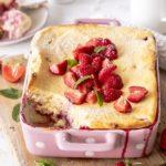 Einfaches Erdbeer Quarkauflauf Rezept. Perfekt für den nächsten Brunch mit Freunden. Frühstück. Käsekuchen. Backen. Emmas Lieblingsstücke