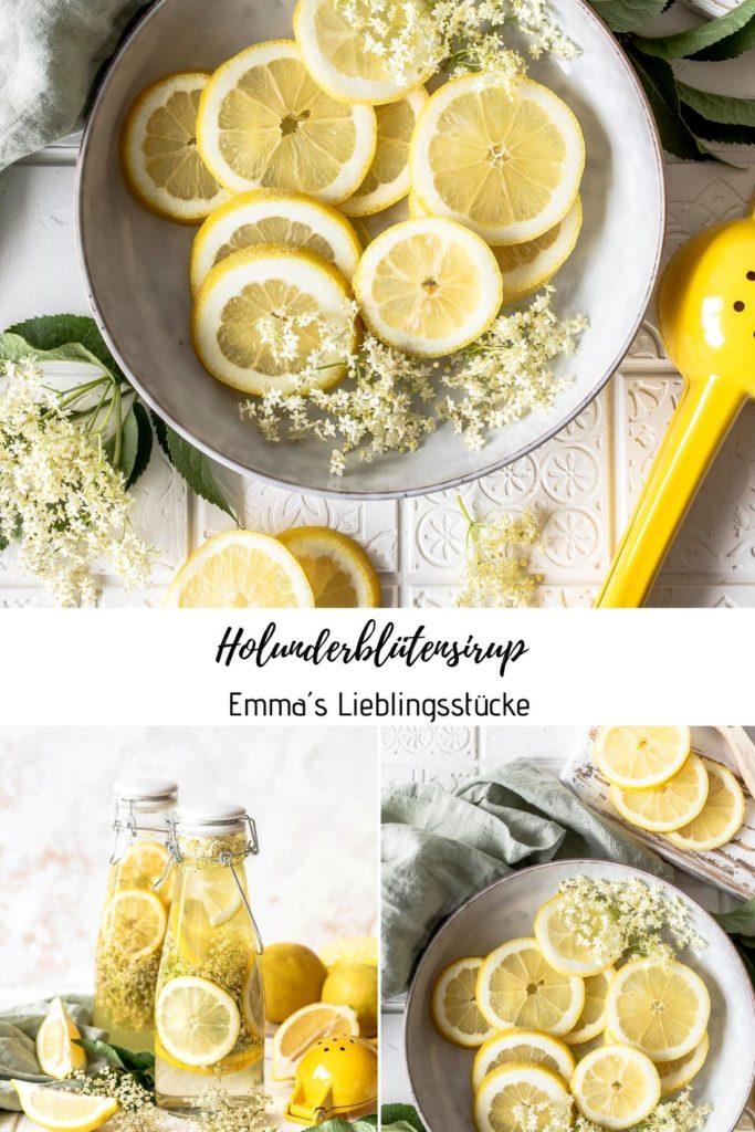 Holunderblütensirup ohne Zitronensäure ganz einfach selber herstellen Emmas Lieblingsstücke