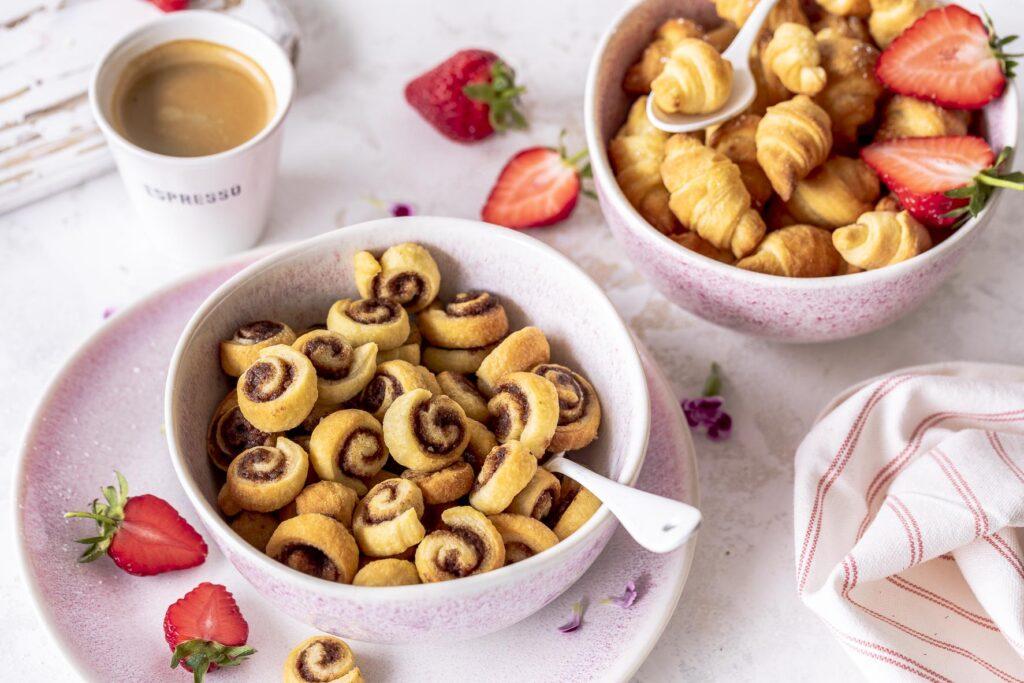 Mini Croissant Cereals & Zimtschnecken Cereals Frühstückstrend Frühstücken  Emmas Lieblingsstücke