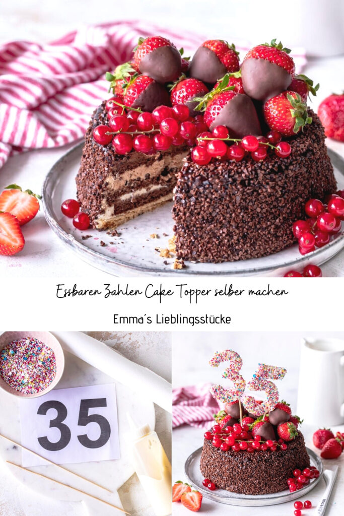 DIY: Zwei hübsche Cake Topper ganz einfach selber machen. #caketopper #torten #diy #cakedecoratingEmmas Lieblingsstuecke
