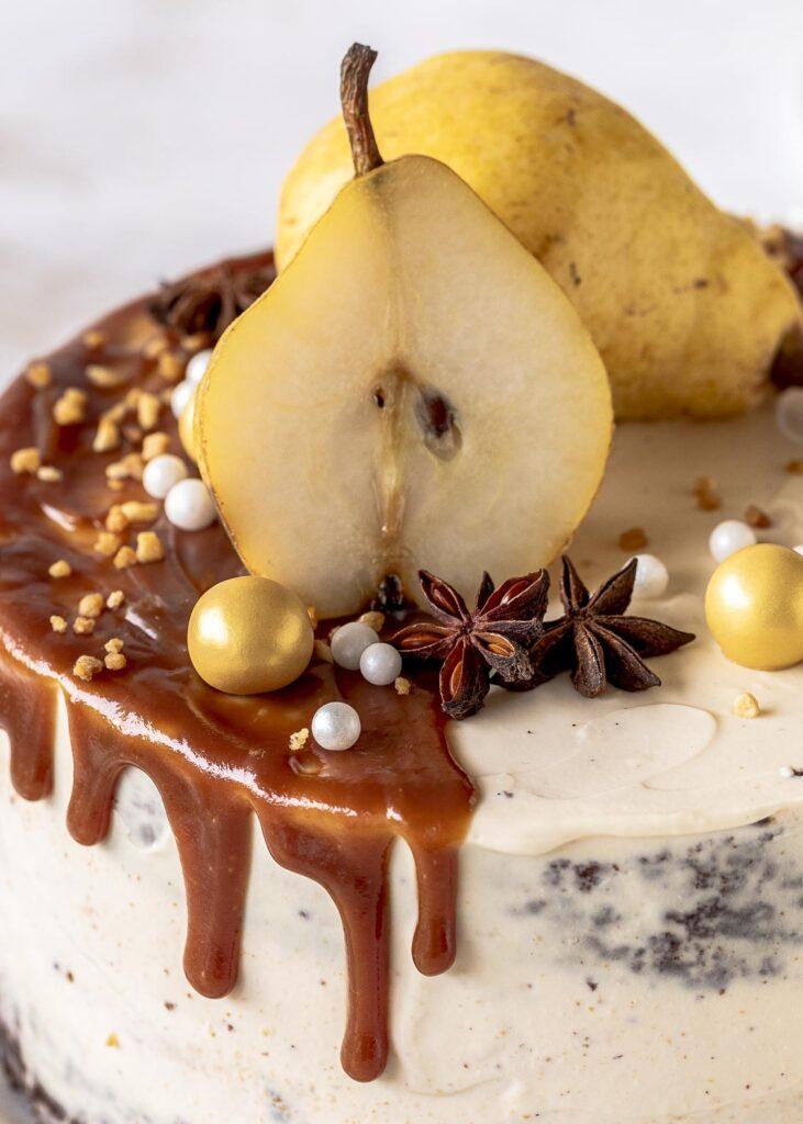 Rezept für eine Birnen Karamell Käsekuchen Torte mit Diamant Zucker  #diamantzucker#happybirthdaydiamant # 150JahresüßeVielfal  #echtZucker Emmas Lieblingsstücke