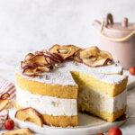 Bratapfel Käse Sahne Torte Rezept. Ein Kuchenklassiker neu interpretiert. Emmas Lieblingsstücke