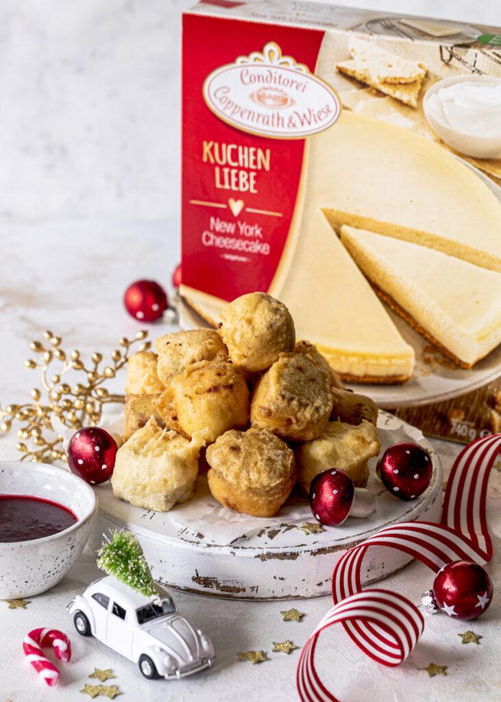 Frittierte Cheesecakes Bites ganz einfach selber machen. Weihnachtsmarkt Feeling garantiert. #cheesecake #christmas #weihnachten #bites Emmas Lieblingsstücke