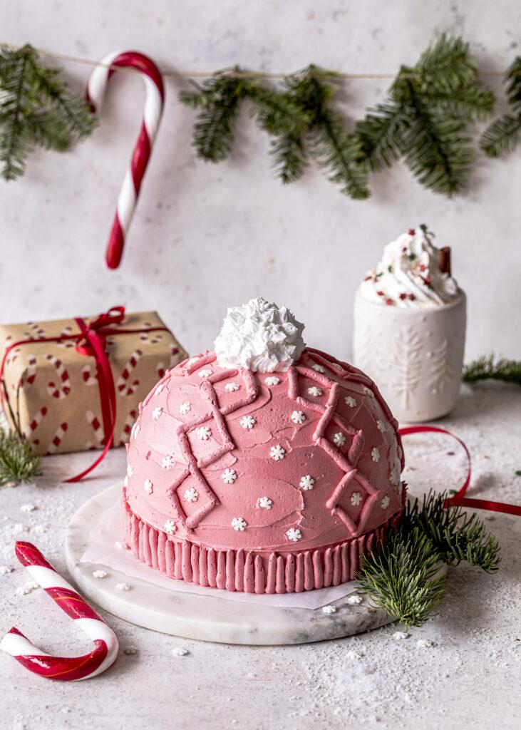 Strickmützen Torte ohne backen. Knit Hat Cake. Kupperltorte mit Strickmuster. Emmas Lieblingsstücke